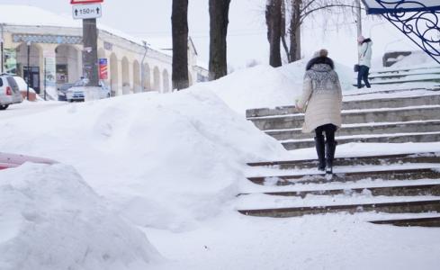 Пешеход зимой картинки