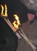 Факелы в Кунгурской Ледяной пещере